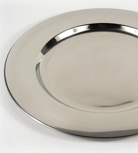 Richland Charger Plate Stainless Steel 12'' Set of 6 by Richland