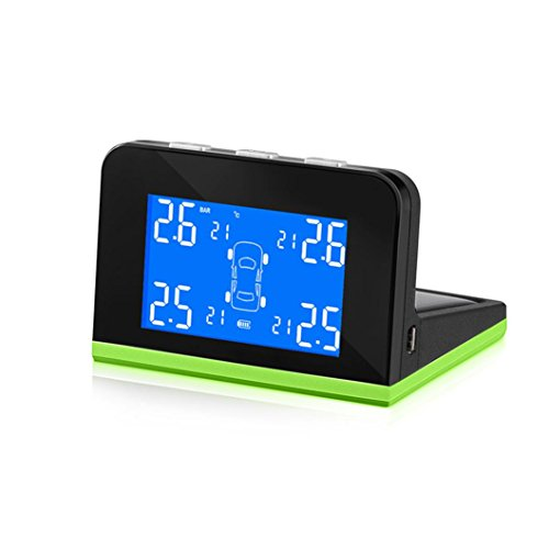 Boddenly Professional Auto Wireless LCD TPMS Tire Pressure Monitoring System Solar/USB Lade Monitor by Boddenly