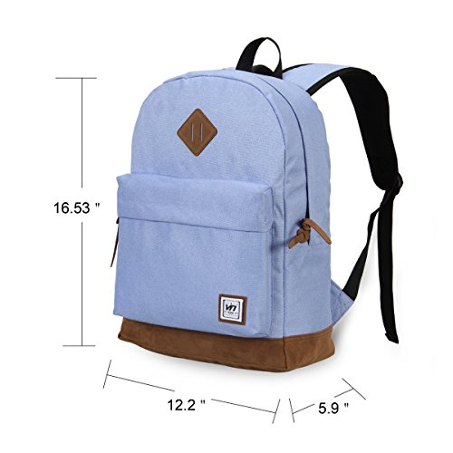 Hynes Eagle Casual Backpack School Bag (Light Bule)