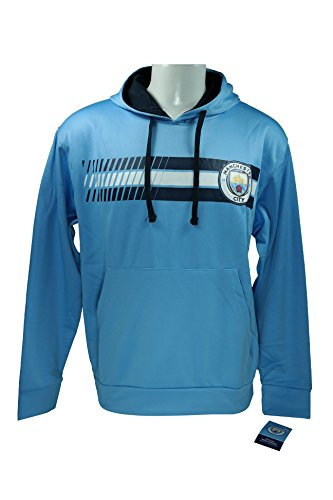 Manchester City F.C. Front Fleece Jacket Sweatshirt Official License Soccer Hoodie Medium 018