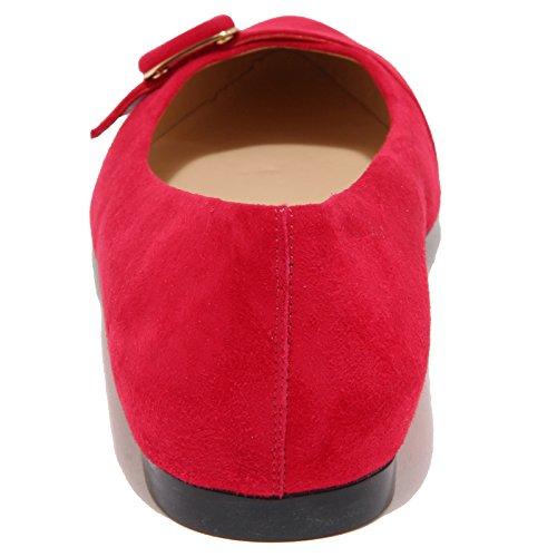 96602 ballerina TODS GOMMA T10 SQ FIBBIA scarpa donna shoes women fusia