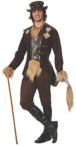 Cowardly Lion In Wizard Of Oz (Rubie's Men's Wizard Of Oz 75th Anniversary Adult Steampunk Cowardly Lion Costume, As Shown,)