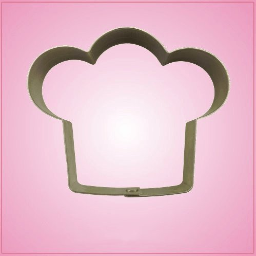 Chef Hat Cookie Cutter 3-1/4Inch tall and 4Inch wide (Chefs Cookie Cutters)