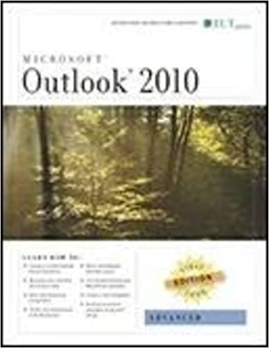 Outlook 2010: Advanced, First Look Edition, Instructor's Manual (First Look Axzo Press)