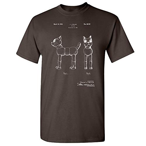 Toy Terrier Dog T-Shirt, Dog Lover Gift, Toy Collector, Animal Lover, Dog Owner, Veterinarian Clinic, Dog Mom, Dog Dad Dark Chocolate (2XL)