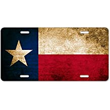 CafePress - Vintage Flag Of Texas - Aluminum License Plate, Front License Plate, Vanity Tag