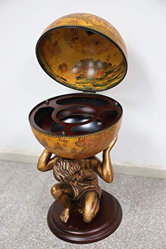 NEX Globe Wine Bar Stand 16th Century Italian Wine Cabinet Wood (NX-RG42016R-GR)