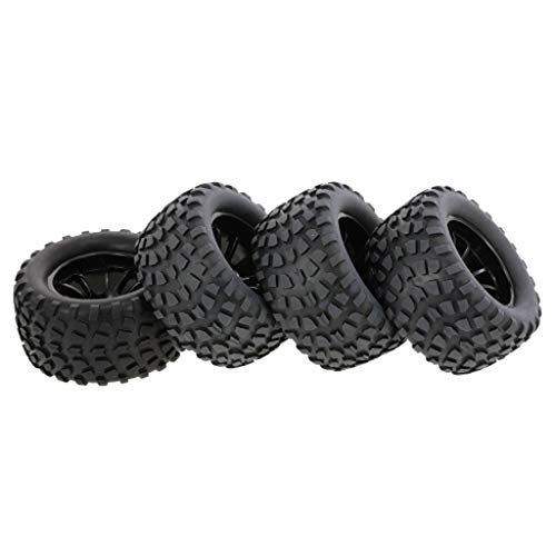 - Sikye 4Pcs 1/10 RC Monster Truck Tire with Nylon Reinforced Design Traction Wheels Nail Block Tread Pattern 10 Spokes Rim