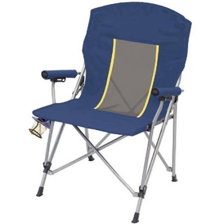 Mesh Hard Arm Chair  Blue