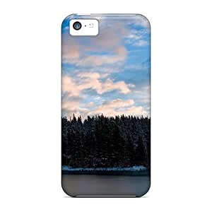 For Iphone Cases, High Quality Blue Skies In A Frozen Forest For Iphone 5c Covers Cases