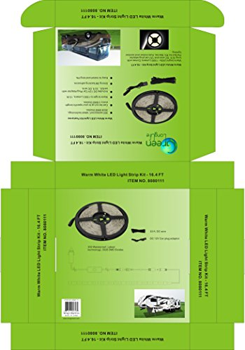 Green LongLife 8080111 16.4 Feet LED Light Strip Kit - Warm White by Green LongLife (Image #5)