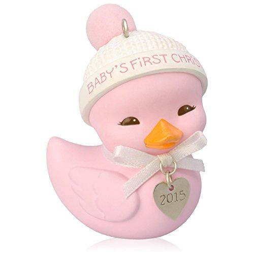 Baby Girl's First Christmas Ducky Ornament 2015 Hallmark