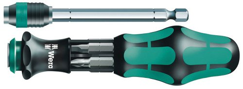 Wera 05051024001 Kraftform Kompakt 25 Slotted and Phillips Bitholding Screwdriver with Bayonet Blade and Pouch