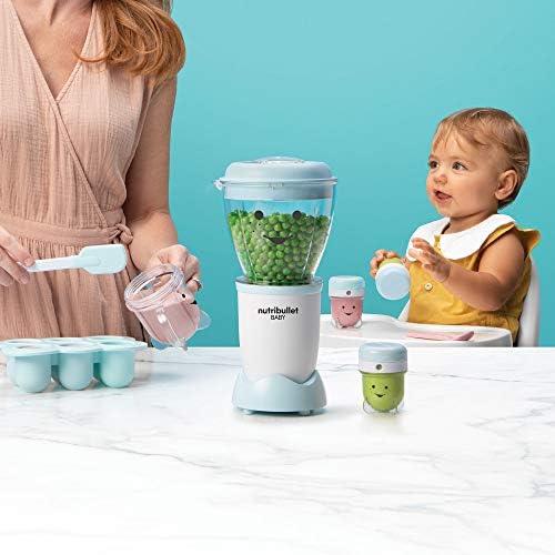 418t3UtTITL. AC - NutriBullet NBY-50100 Baby Complete Food-Making System, 32-Oz, Blue