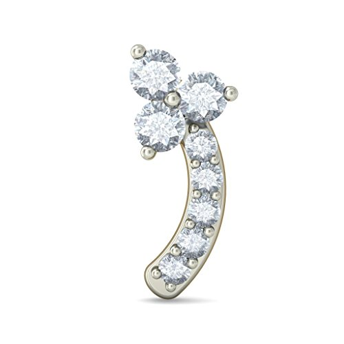 Or jaune 18K 0,1ct tw White-diamond (IJ | SI) Boucles d'oreille à tige