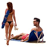 Origama Sun Seat American Eagle - Luxury Beach Towel with backrest. Beach Towel, Beach Chair and Sun Lounger in one Product.