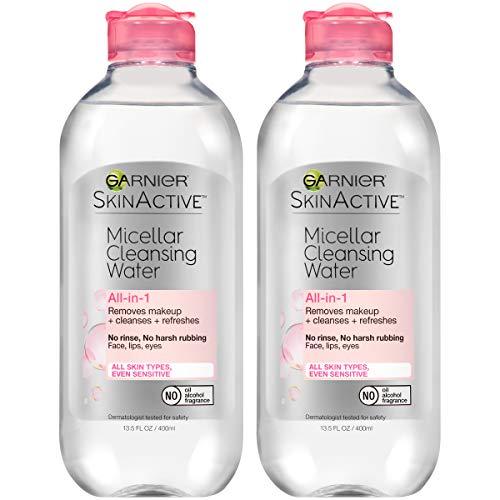 Garnier SkinActive Micellar Cleansing Water, For All Skin Types, 13.5 Fl Oz, Pack of 2