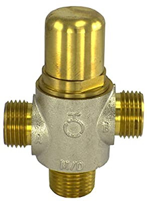 Brass Thermostatic Diverting Valve for Solar Water Heater Systems with Heat Dump