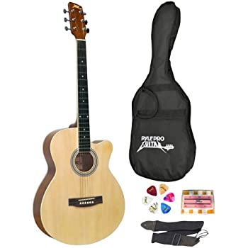 Pyle-Pro PGAKT39 39'' Inch Beginner Jammer, Acoustic Guitar w/ Carrying Case & Accessories