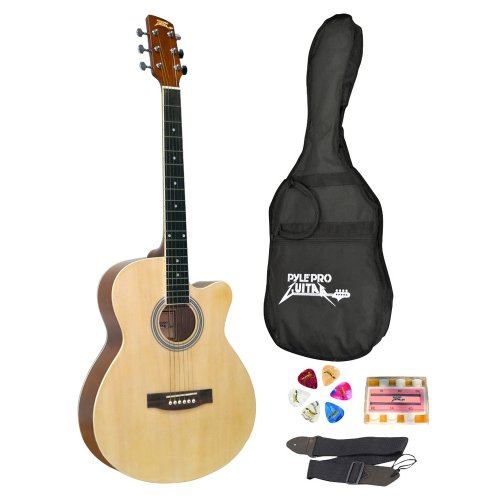 Pyle-Pro PGAKT39 39'' Inch Beginner Jammer, Acoustic Guitar w/Carrying Case & Accessories by Pyle