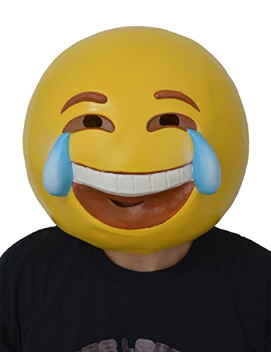 LarpGears Halloween Costume Mask Party Latex Emoji Cry Mask Adult Size