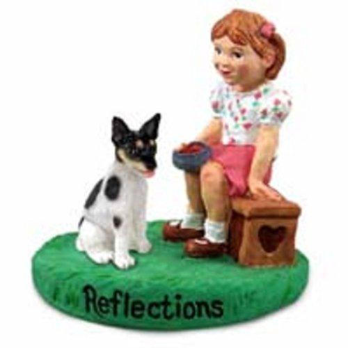 Rat Terrier Reflections w/Girl - Figurine Rat Terrier