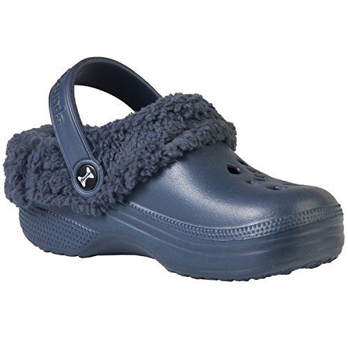 DAWGS Hounds Toddler Fleece Clogs (Toddler), Navy/Navy, 10 M US Toddler (Dawgs Clogs Fleece Womens)