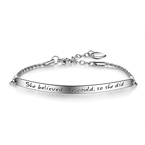 """Engraved Message """"She believed"""