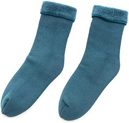 Haodou Mujeres Calcetines Alambre de Harajuku Calcetines Gruesos Estilo Muchacha Pila de Calcetines Casual Lindo Raya del Algodón Calcetín (Azul)