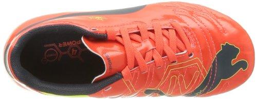 Puma Evopower 4 Fg Jr - Botas de Fútbol de material sintético niño Naranja - Orange (Fluro Peach/Blue/Yellow)