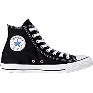 Converse Chuck Taylor All Star Canvas High Top,Black/White, 9 Women/7 Men