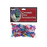 Bulk Buy: Darice DIY Crafts Ceramic Tree Accessories Medium Globe Pin Multi Color 1/2 in 100 pack (3-Pack) P0670
