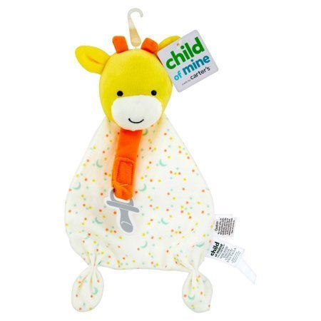 Carters Child of Mine Security Blanket with Paci Strip (Yellow (Carters Giraffe)