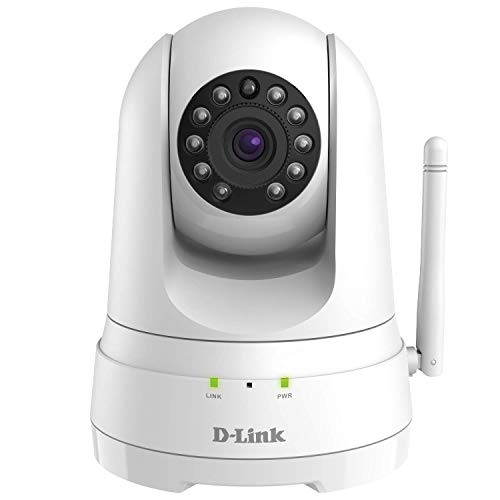 D-Link Indoor Security Camera 2 Way Audio, Pan & Tilt WiFi HD 1080p, Motion Detection, Night Vision, Record MicroSD (DCS-8525LH-US) (Renewed)