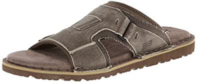 Skechers USA Men's Golson Volume Gladiator Sandal,Stone,8 M US