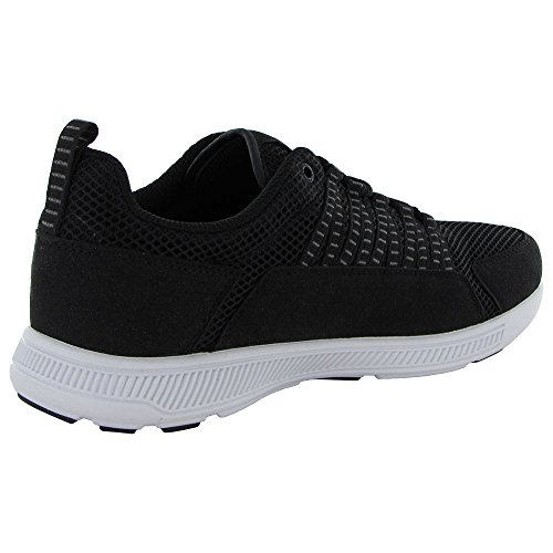 Supra Mens Owen Casual Sneaker Schoen, Zwart Mesh, Us 8.5