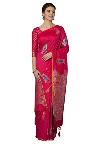 Craftsvilla Women's Silk Blend Festive Wear Saree With Blouse Piece