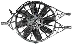 Power Supply Fan Assembly - TYC 620880 Dodge Dakota Replacement Radiator/Condenser Cooling Fan Assembly