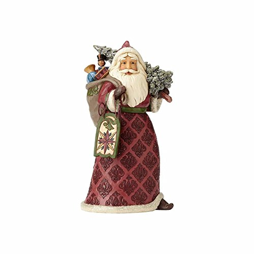 Enesco Jim Shore Heartwood Creek Dreaming of Christmas Past Stone Resin Santa, 9.5 Figurine