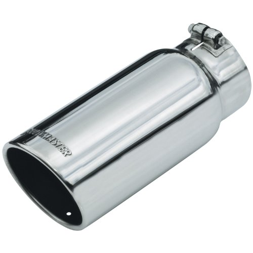 Flowmaster 15368 Exhaust Tip - 5.00 in. Rolled Angle Polished SS Fits 4.00 in. Tubing - clamp on