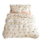 VM VOUGEMARKET Love Birds Bedding Duvet Cover Set Queen,3 Pieces Lightweight Cotton Girls Duvet Cover 2 Pillowcases,Simple Luxury Cute Bedding Set -Full/Queen,Love birds