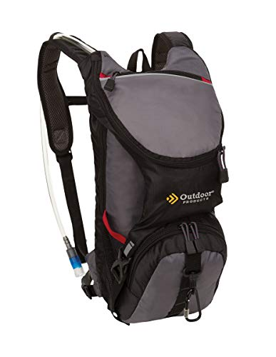 Outdoor Products Ripcord Hydration Pack with 2-Liter Reservoir, 3.6-Liter Storage, Graphite