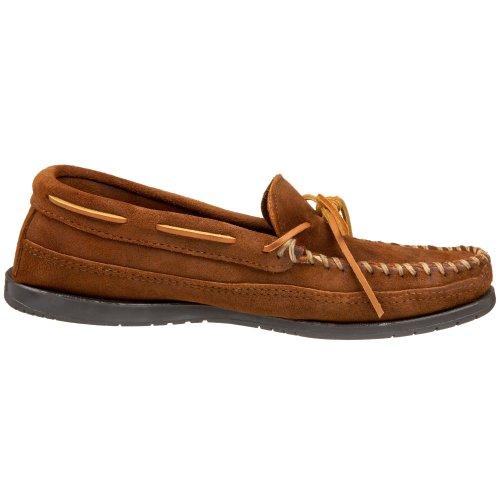 Minnetonka Men's Double Bottom Hardsole Brown Ruff free shipping shopping online buy cheap perfect iggcyefk3v
