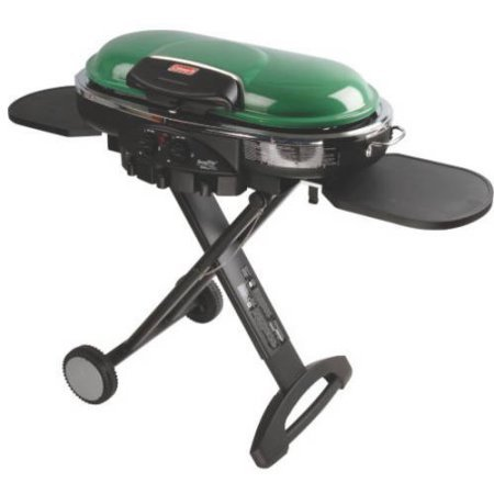 Coleman RoadTrip LXE Portable 2-Burner Propane Grill - 20,000 BTU, Green Color (Coleman Cylinder Tank)