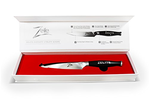 zelite infinity utility knife comfort pro series high carbon stainless steel chef knives x50. Black Bedroom Furniture Sets. Home Design Ideas