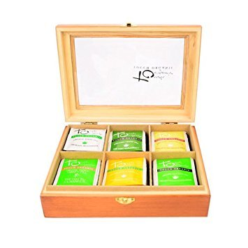 Organic Tea Wood Chest - Touch Organic 60 Tea Bags - Selection of Our 6 Most Popular Certified Organic Teas: Green Tea, White Tea, Oolong Tea, Mango Green Tea, Very Berry White Tea, Mint Green Tea by Touch Organic (Image #3)