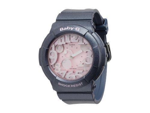 Casio Baby-G BGA131-8B Watch Neon Ladies - Pink Dial Stainless Steel Case Qua...