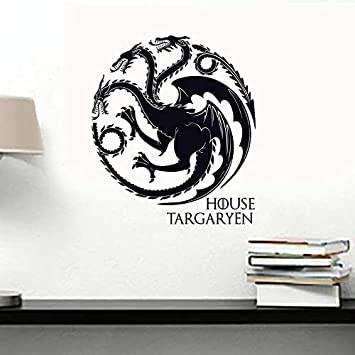 zzlfn3lv Juego de Tronos Casa Targaryen Tatuaje de Pared de Vinilo ...