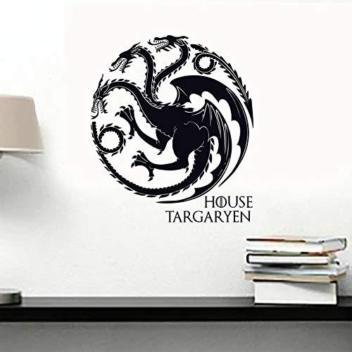 Casa Targaryen Vinilos decorativos Vinilos decorativos GOT Sigils Dragons Símbolo Etiqueta de la pared para Paredes/Coches/Portátiles 44 * 40 CM: Amazon.es: ...