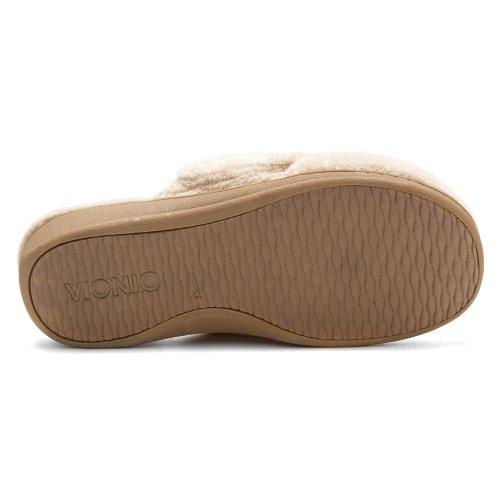 Orthaheel - Zapatillas de estar por casa para mujer marrón Tan Terry 6